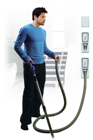 retractable hose central vac
